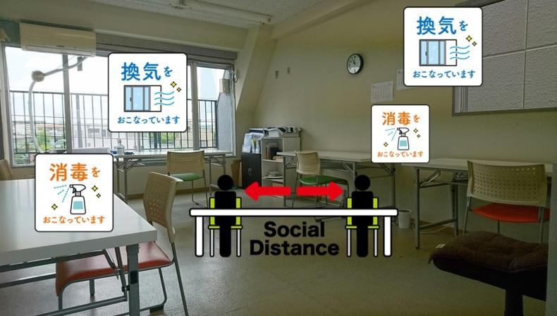 ウィングローブ英語塾高島平校コロナ対策2